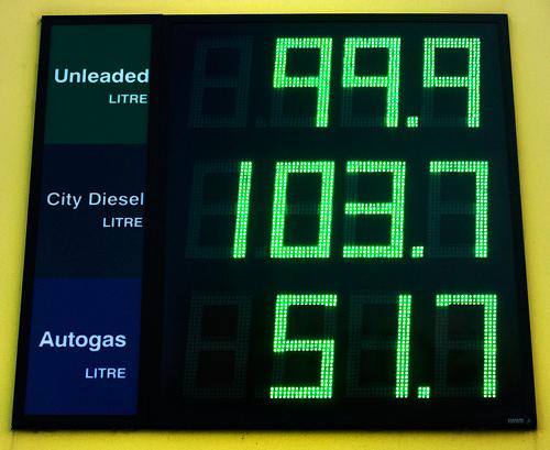 Cheap petrol!