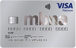 MBNA Balance Transfer Credit Card 39 months