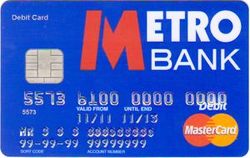 Metro Bank Debit Card
