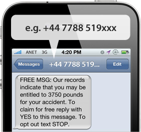 An example of a spam text